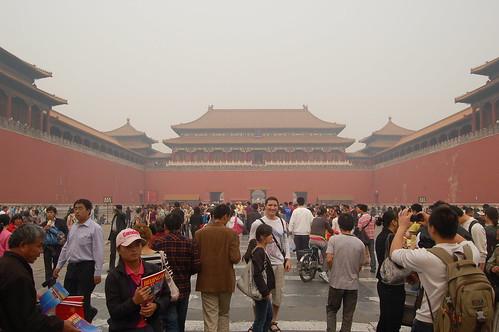 vor der himmlischen Pforte versammeln sich die Touristen um Fotos zu machen und Eintrittskarten zu kaufen