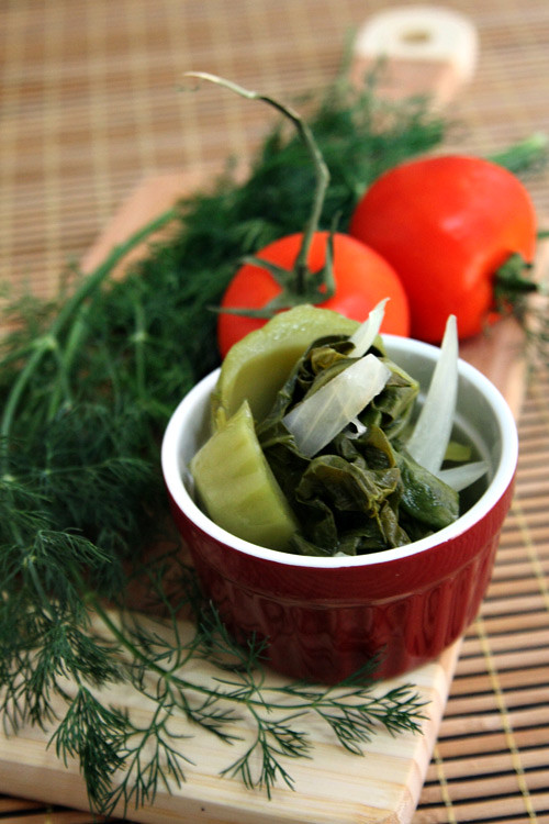 mustard green dill soup