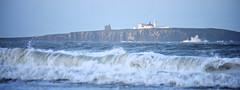 Trinity House Lighthouse On Inner Farne (Stuart Herbert) Tags: uk sea england lighthouse europe waves stu location northumberland technique farneislands peeltower afzoomnikkor80200mmf28ded otherkeywords 25x9