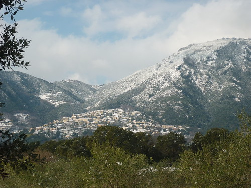 Montagne enneigée en Costa Verde