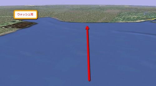 ウォッシュ湾北側の砂浜に強襲上陸開始