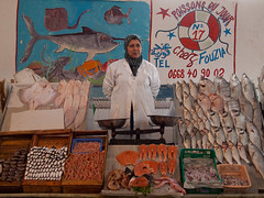 The fish lady (Evgeni Zotov) Tags: africa city people woman white fish advertising poster graffiti market ad hijab advertisement morocco maroc wait marocco maghreb seafood vendor casablanca sell trade marruecos seller marokko moroccan marrocos fas trader marocko maroko المغرب モロッコ marchécentral 아프리카 מרוקו 摩洛哥 марокко 왕국 회교 मोरक्को 북서부의