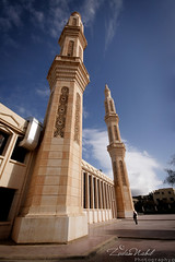 """Premier Novembre"" Mosque , The Minarets (zedamnabil) Tags: distortion art architecture algeria peace minaret islam religion culture wideangle mosque civilization algerie islamic distorsion   grandangle  batna aures sigma1020mmf456dcex  dzflickrs zedamnabil"
