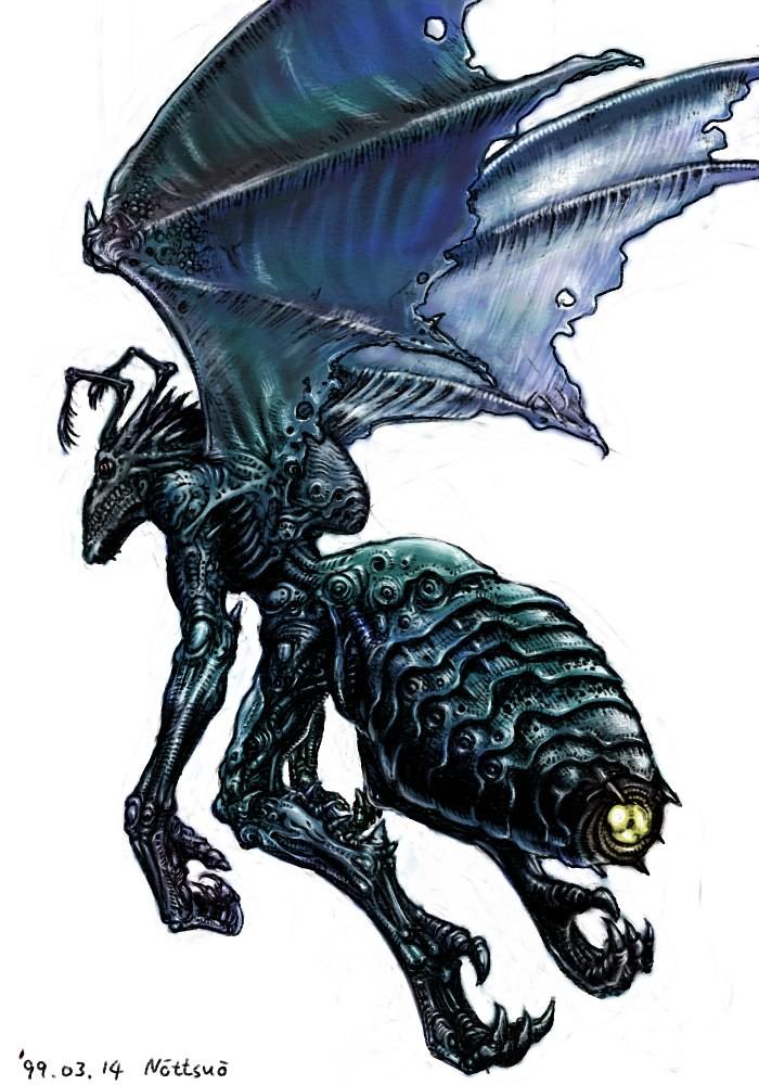 Tatsuya Nemoto (H.P Lovecraft Illustration) Byakhee
