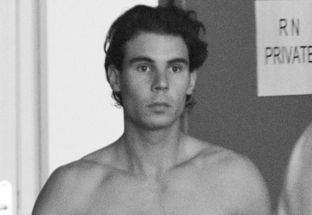Rafael Nadal shooting for Armani