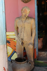 Pissing Man Fountain (crhx84) Tags: man color art tourism pee southamerica fountain colombia artist pot clay pottery pissing handicrafts peeing urinating urination indecency publicurination indecentexposure rquira publicindecency