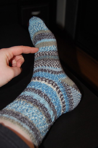 Blues and Browns Socks