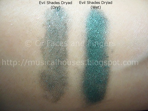 evil shades dryad swatch