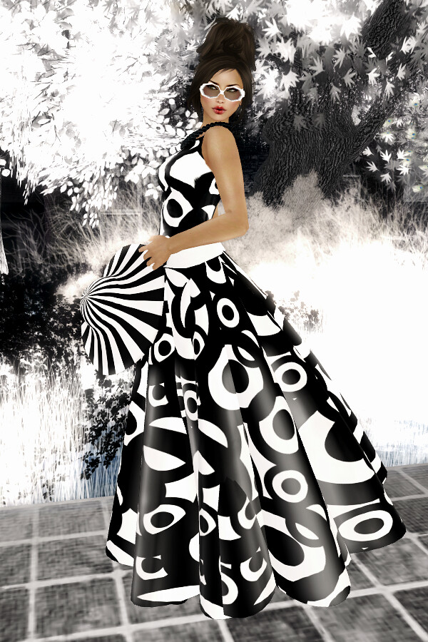22769 couturiers loft - black'n'white dress 100L$