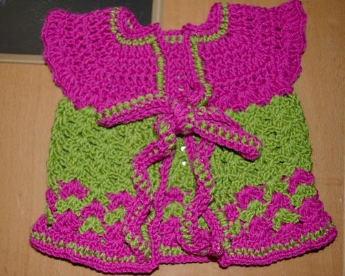 Baby sweater #2 - flower garden