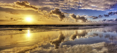 Nature's Mirror (Didenze) Tags: sunset sky panorama clouds reflections mirror dramatic symmetry layers danapoint hdr goldenhour canon450d hdrspotting didenze