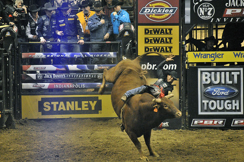 Action shot at the PBR event