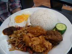 Nasi Lemak $8.80 [Singapore Chom Chom, City]