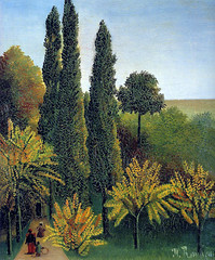 Henri Rousseau: Walking in the parc des Buttes-Chaumont (1908-09) (petrus.agricola) Tags: art japan museum walking la au des le promenade parc henri butteschaumont setagaya rousseau douanier