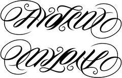 """Ayden"" & ""My Love"" Ambigram"
