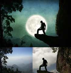 In My Dream - Before & After (Arun Titan) Tags: blue trees light portrait sky moon india mountain selfportrait man black tree eye texture silhouette rock backlight photoshop canon pose photography twilight cg graphics wolf flickr glow image top dream inspired silhouettes evil bluesky manipulation before fullmoon mount fantasy valley moonlight after 365 rim imagemanipulation bf tutorial tamilnadu arun kodaikanal beforeafter southindia tutor bluetint mattepainting onelight darker rimlight mydream indark project365 darktree arunkumar arunr inmydream fullmoonday 1000d canon1000d canoneos1000d arun4884 aruntitan