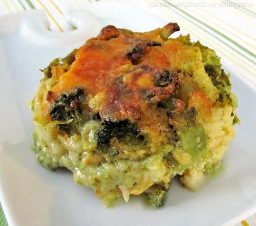 Broccoli and Cauliflower au Gratin