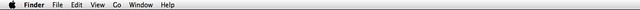 The OS X Menubar, with translucency disabled