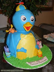 Backyardigans Cake (Meghan @ Domestic Sugar) Tags: backyardigans backyardiganspablo backyardiganscake backyardigansbirthday