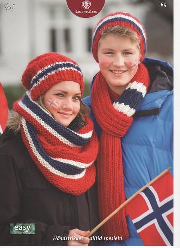 Norge lue,skjerf og hals