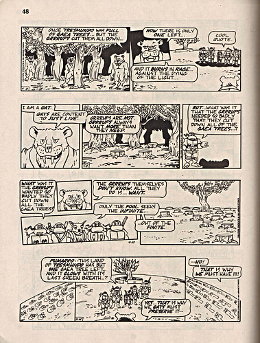 "ComicsReview #62 :: 'Teenage Mutant Ninja Turtles' { newspaper strip } 0408-04111991,  "" The Last Gaea Tree"" pg.48 (( 1991 ))"