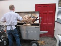 Dublin, Irish Republic, 2010 (Qaiser18) Tags: ireland dublin irish tourism pig europe republic eu spit eire roast pork