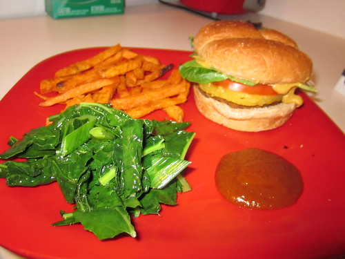 Tropical veggie burgers