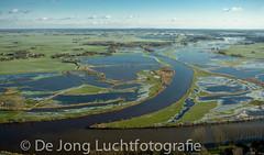 Kop van de Vecht  in Overijssel (De Jong Luchtfotografie) Tags: overijssel uiterwaarden rivier zwartewater hoogwater ijsseldelta ondergelopenland kopvandevecht overijsselschevecht
