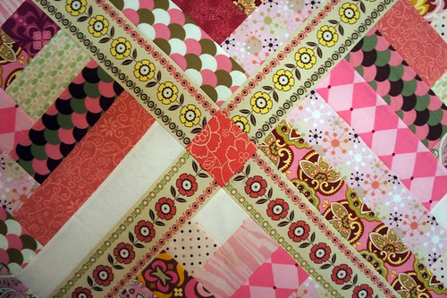 Pink Quilt - setting blocks