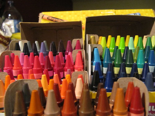 close up crayons