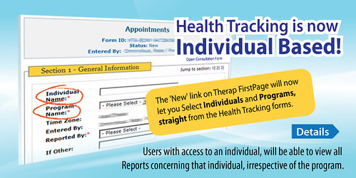 An individual's Health Tracking reports wll now be visible to all who involved in supporting that individual