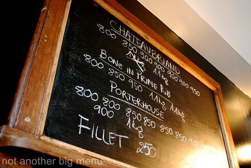 Hawksmoor, Spitalfields - Menu board