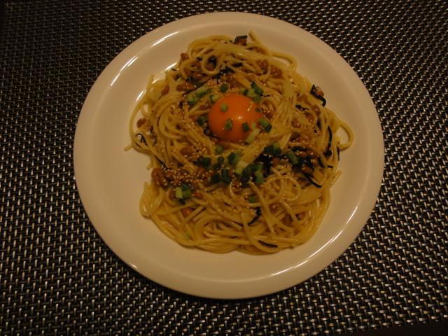 2011年2月12日 昼食(納豆スパゲティ)