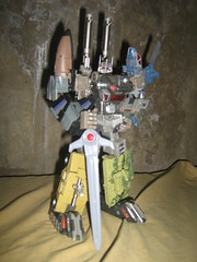 Bruticus with Heavytread as Leg (m_m_11) Tags: transformers