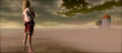 ...mist @ Waterland... (lindini2) Tags: mist fog pose landscape horizon pda sl secondlife waterland