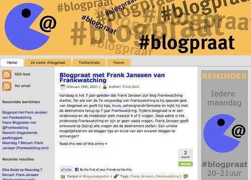 WEblog '#blogpraat'