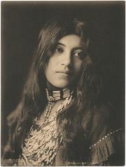 Kaw-u-tz (Cado) (SMU Central University Libraries) Tags: woman women longhair americanindians cado uswest monomonday