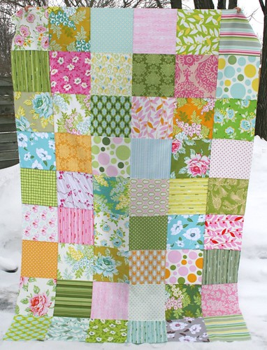 completed nicey jane quilt top