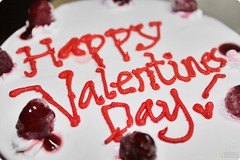 042/365 (ibehh) Tags: food cake raspberry icecreamcake valentinesday coldstonecreamery project365 day042