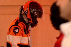 Getting ready (Rami ) Tags: orange car race championship nikon helmet international saudi arabia radical driver ric circuit riyadh ksa reem      d7000