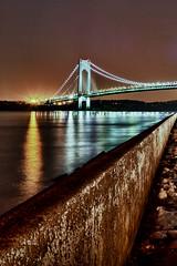 048/365 - February 17, 2011 - Bridge Over Still Water (Shane Woodall) Tags: longexposure bridge newyork brooklyn 35mm lights tripod 365 february forthamilton hdr verrazano 2011 project365 verrazannobridge canon5dmarkii hdrefexpro 3652011 shanewoodallphotography