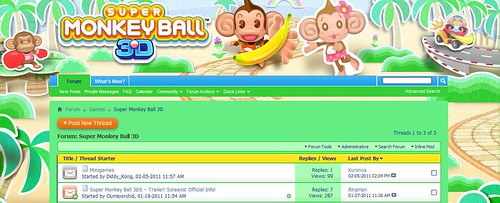 Super Monkey Ball Forum