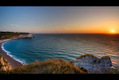Sea sunset, Etretat - Normandy (Photoskatto) Tags: light sunset sea panorama cliff holiday france tourism nature colors rock composition photoshop landscape photography landscapes photo europa europe flickr tramonto european mare dof nightscape shot kodak tripod eu location tourist explore normandie acr dslr colori normandy francia efs touring luce etretat normandia scogli composizione breathless nightlandscape flipside lowepro prophotographer cs3 cameraraw falesie c41 canonlens orablu presets treppiedi kodakc41 inquadratura 40d canonefs1022f3545usm eos40d canon40d acrpresets exposureprogram kodake6 aperturepriorityae theauthorsplaza luigiscattolin