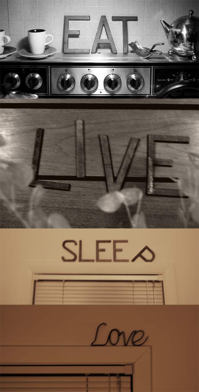 eat, live, sleep, love