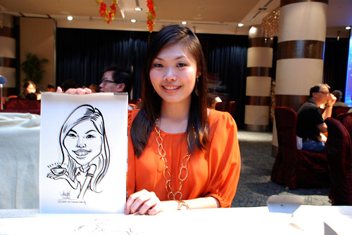 caricature live sketching for OCBC Securities - 2
