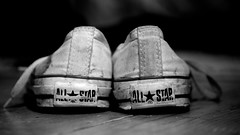 Chucks (Samantha Warren Photography) Tags: bw white black field star nikon shoes all dof top low converse taylor chuck shallow nikkor depth allstar d300 1755mm f28g