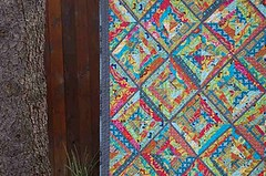 perfection! (.House. of A La Mode) Tags: modern quilt string coal wonky kona filminthefridge annamariahorner