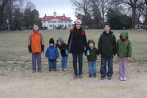 with Franklins at Mt Vernon