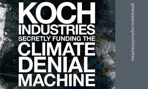 Greenpeace image: Koch brothers, climate deniers