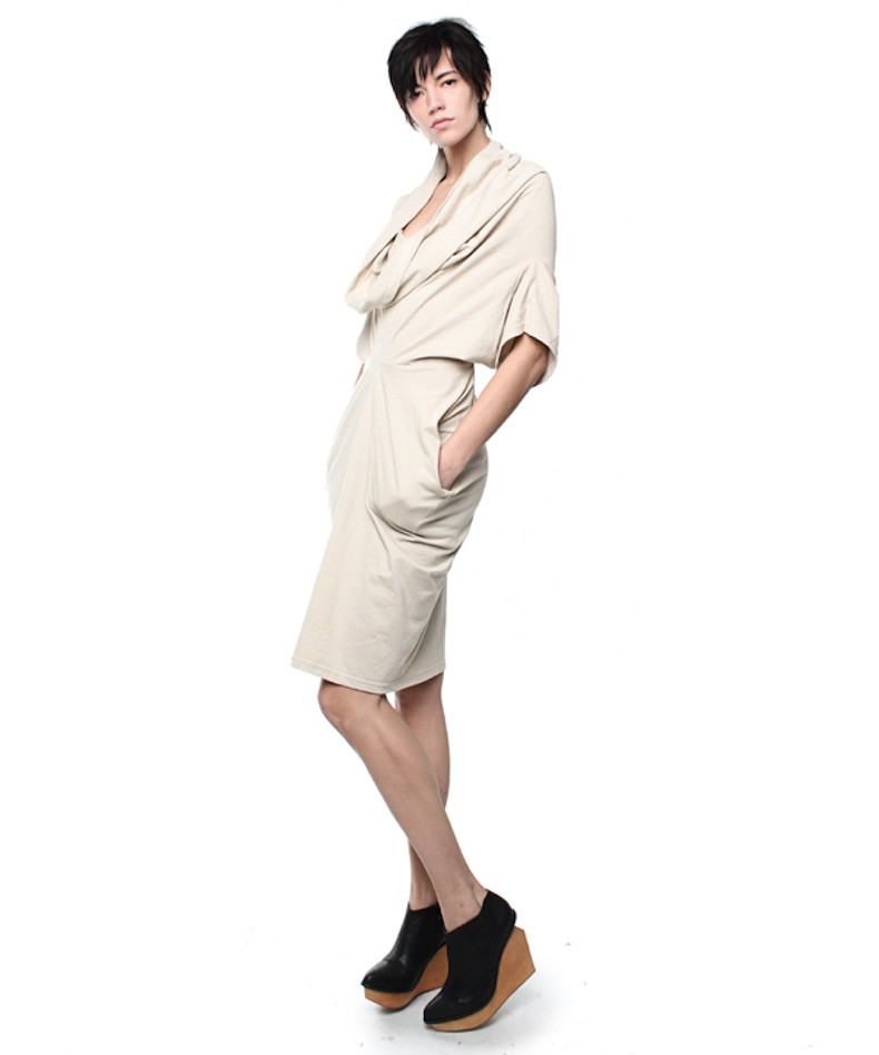 Take Off Your Clothes double t-shirt dress 3